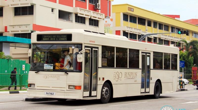 Bus-Plus Dennis Lance UMW (PA716Z) - Tampines Retail Park Shuttle (Tampines Route)