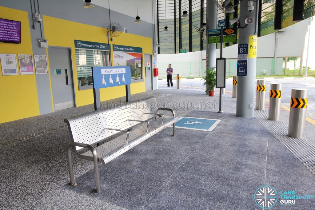Shenton Way Bus Terminal - Priority seating area