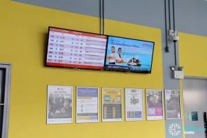 Shenton Way Bus Terminal - Bus Departure Timings screen