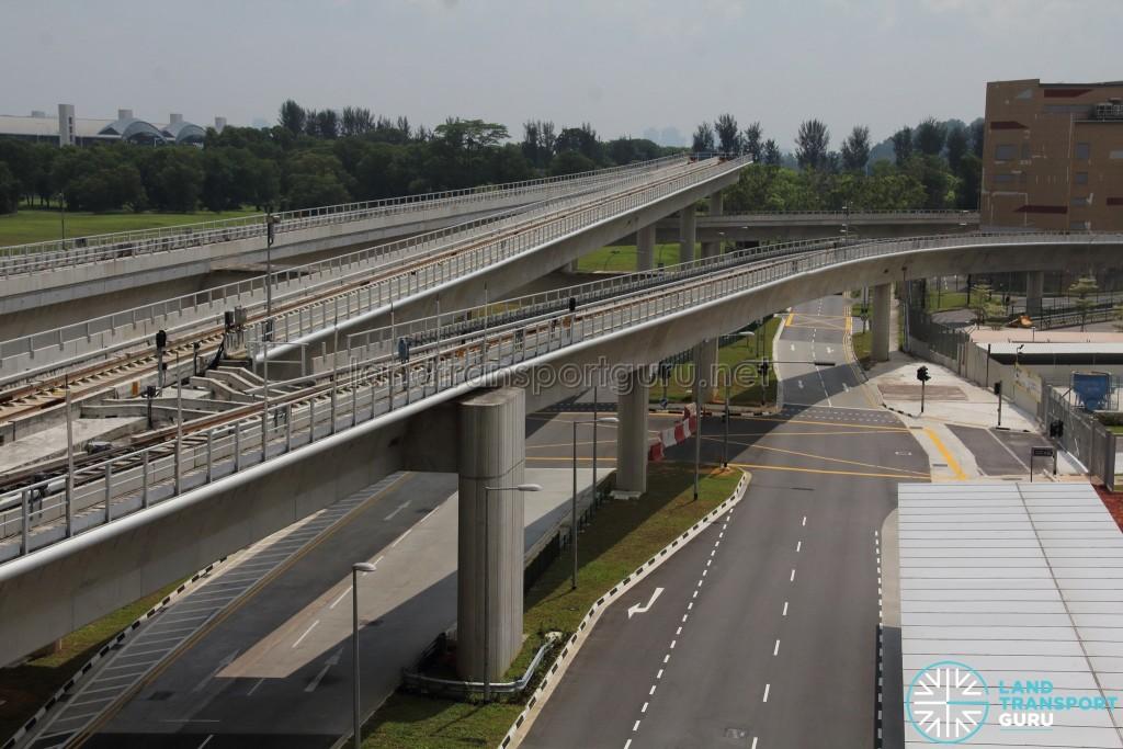 Tuas Link MRT Station - Tuas Depot reception tracks