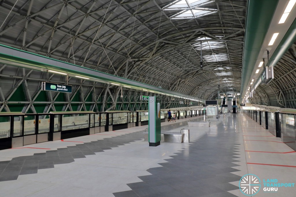 Tuas Link MRT Station - Platform level