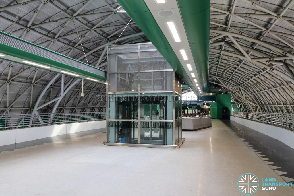 Tuas Link MRT Station - Concourse level paid area and lift access