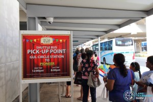Tuas West Extension Open House - Shuttle Boarding Point at Gul Circle