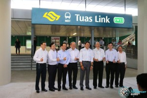 Tuas West Extension Opening Ceremony - Group photo at Tuas Link