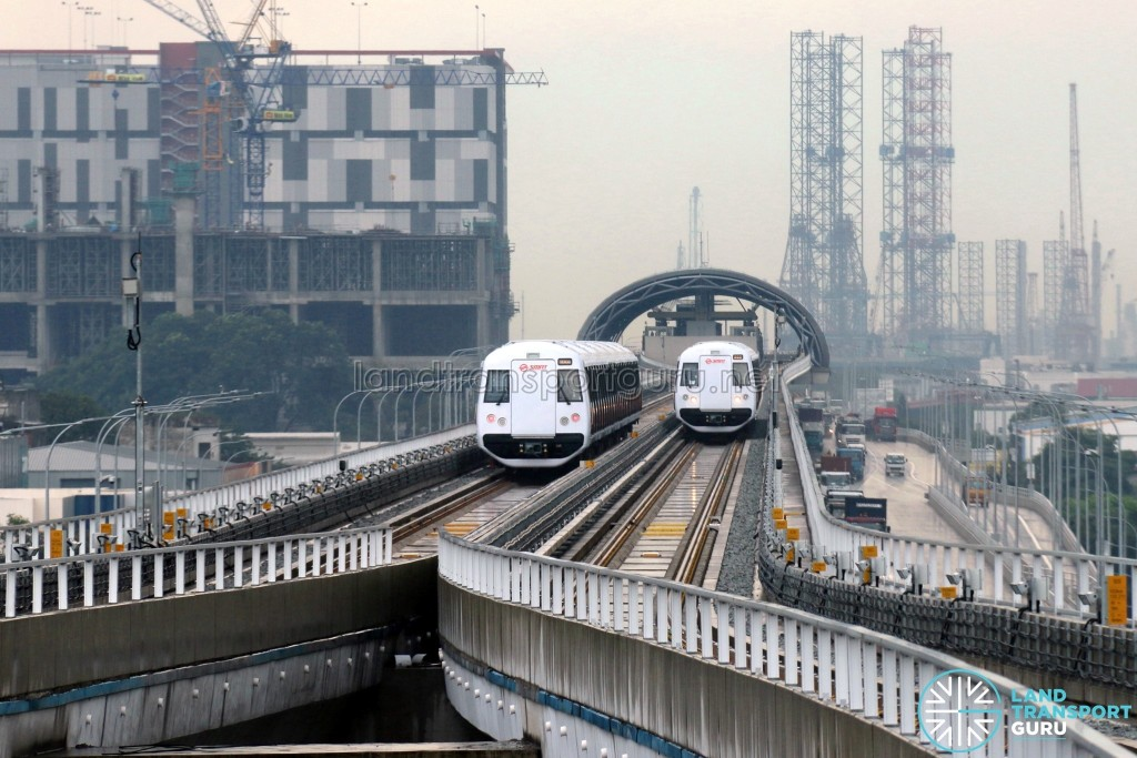 C151B trains on the Tuas West Extension