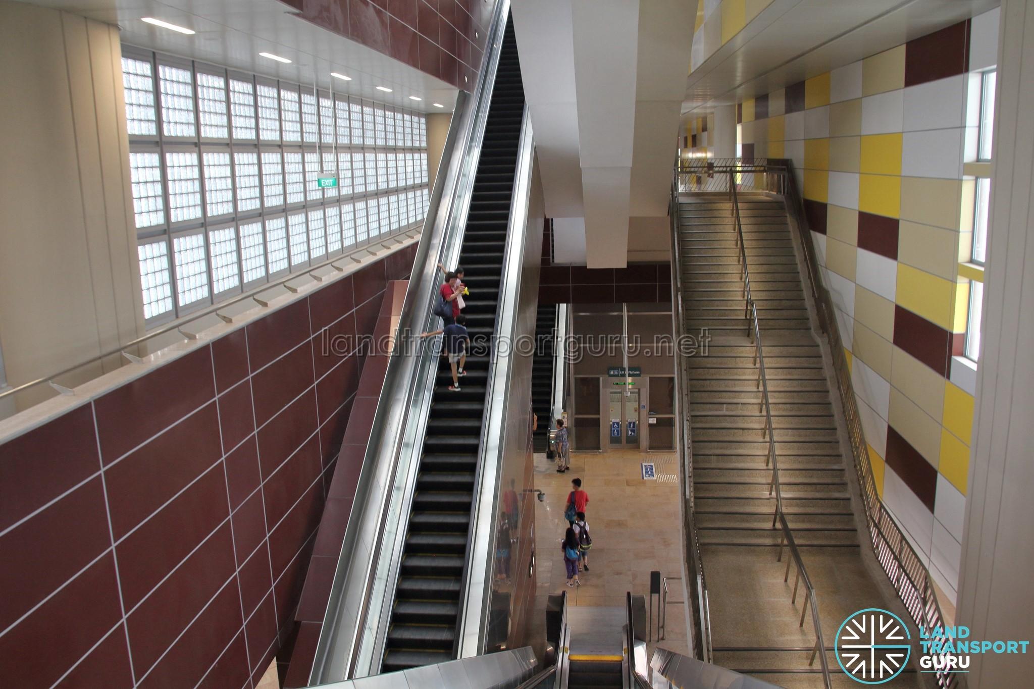 Tuas West Road MRT Station - Escalators