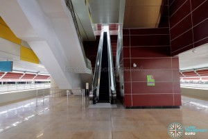 Tuas West Road MRT Station - Concourse level paid area