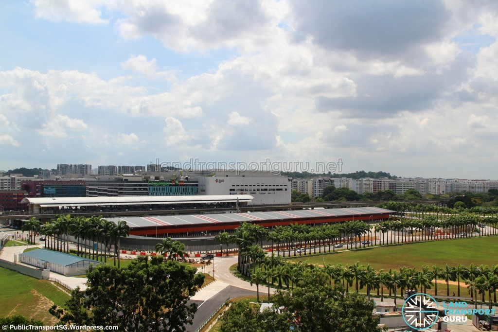 Woodlands Temporary Bus Interchange - Aerial view of completed interchange