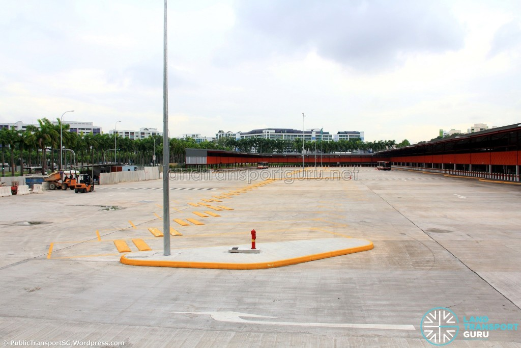 Woodlands Temporary Bus Interchange - Completed interchange in February 2016