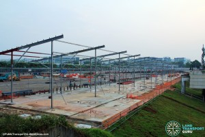 Woodlands Temporary Bus Interchange - Construction Progress (March 2015)