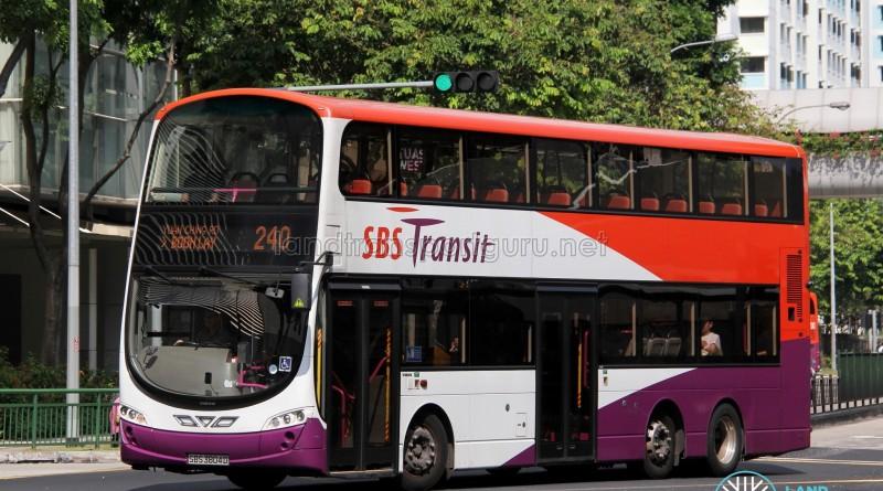 SBS Transit Volvo B9TL Wright (SBS3804D) - Service 240