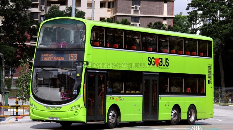 SBS Transit Volvo B9TL Wright (SG5572X) - Service 153