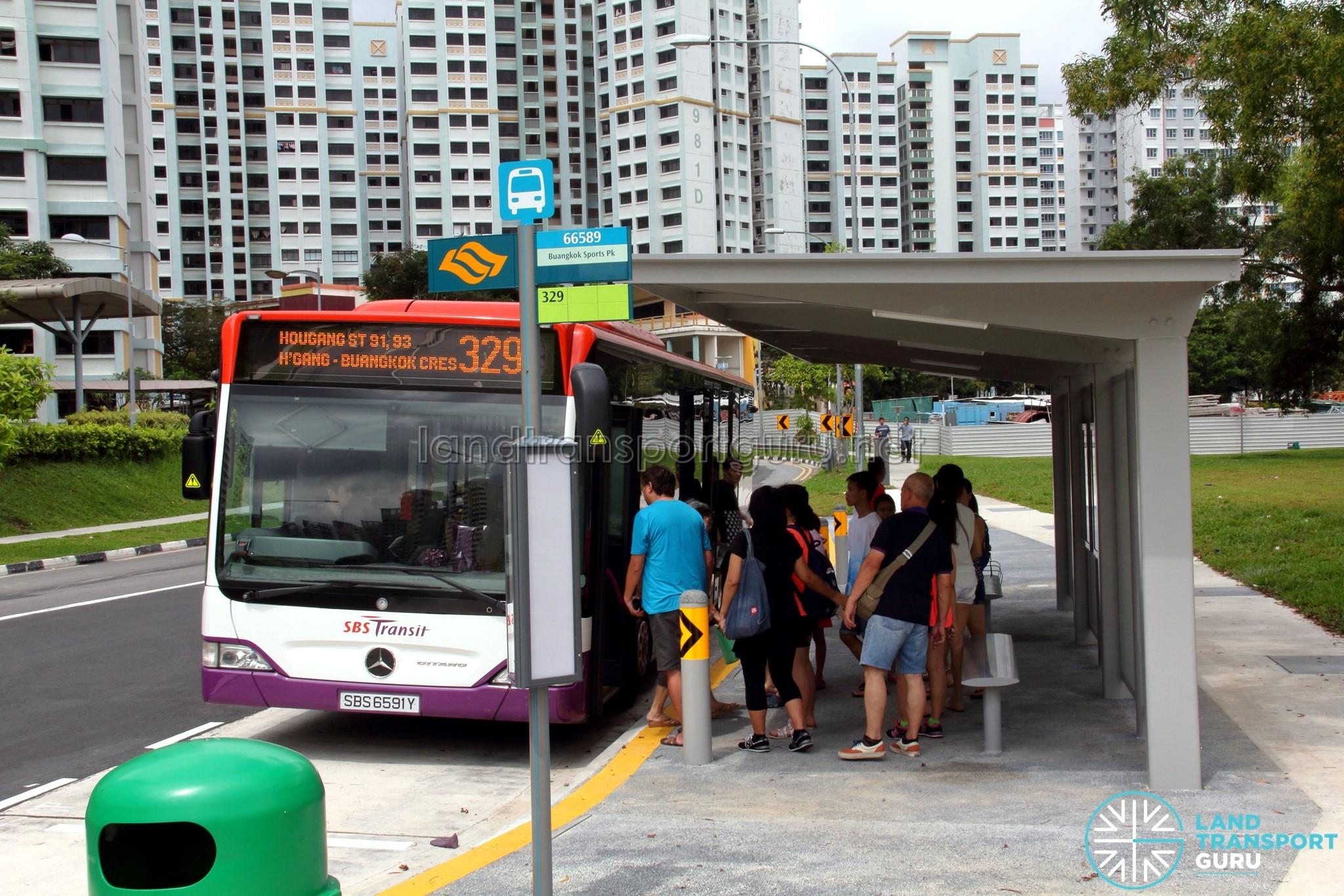 SBS Transit Mercedes-Benz Citaro (SBS6591Y) - Service 329 at Buangkok Crescent