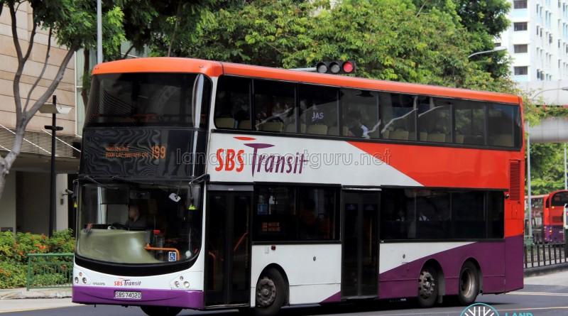 SBST Volvo B9TL CDGE (SBS7402D) - Service 199