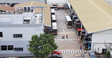 Overhead view of SMRT Ang Mo Kio Depot