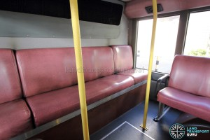 Dennis Trident - Lower Deck: Last row of seats