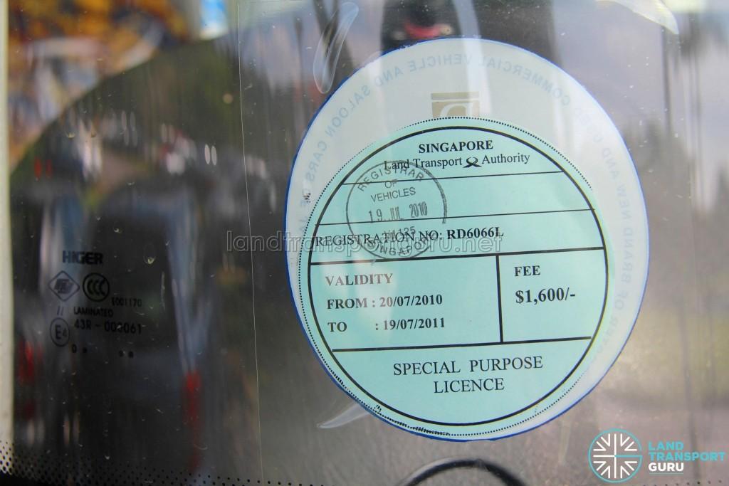 Higer KLQ6129GQH2 (RD6066L) - Special Purpose License