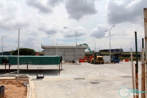 Hougang Bus Depot Expansion: Under construction