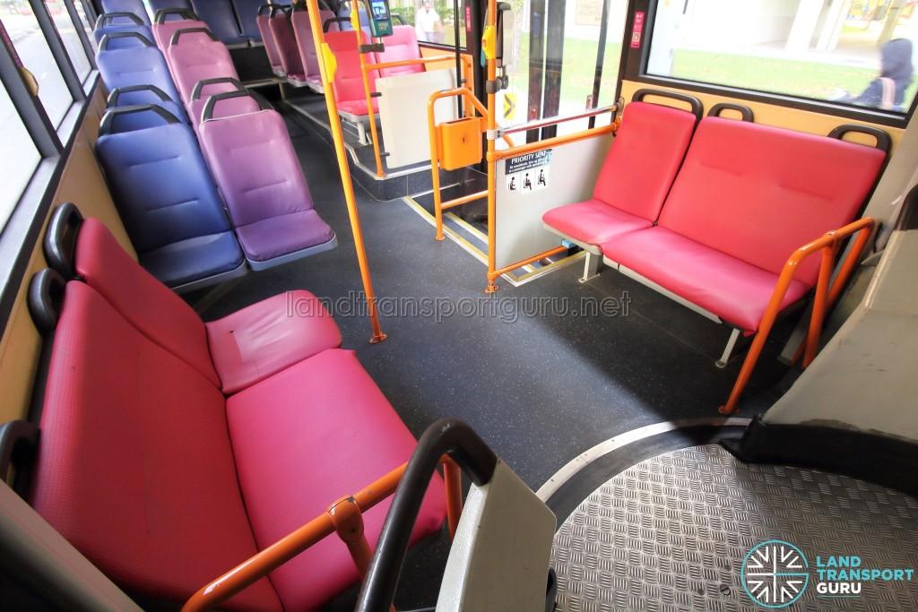 Mercedes-Benz O405G (Volgren) - Rear Cabin – Side-facing seats