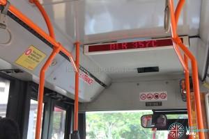 Mercedes-Benz O405G (Volgren) - Passenger Information System showing next bus stop (Blk 357C) (Front cabin)
