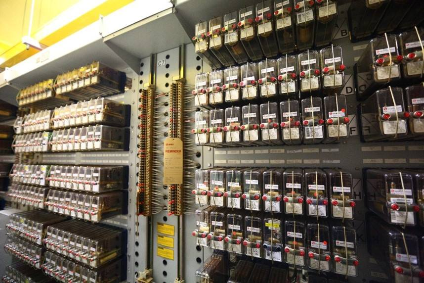 Relay Interlocking: Racks of electro-mechanical relays offer interlocking protection and is a key part of the legacy Westinghouse signalling system (Photo: LTA)