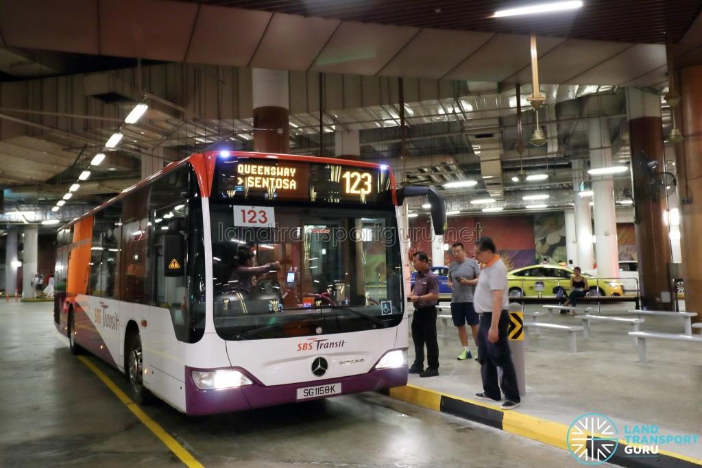 Bus Service 123 at RWS Basement