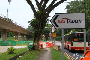 Seletar Bus Depot - SBS Transit Sign along Lentor Avenue