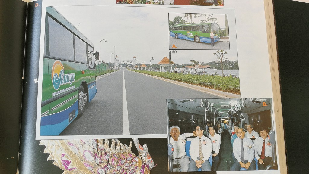 Launch of Bus service to Sentosa in December 1992