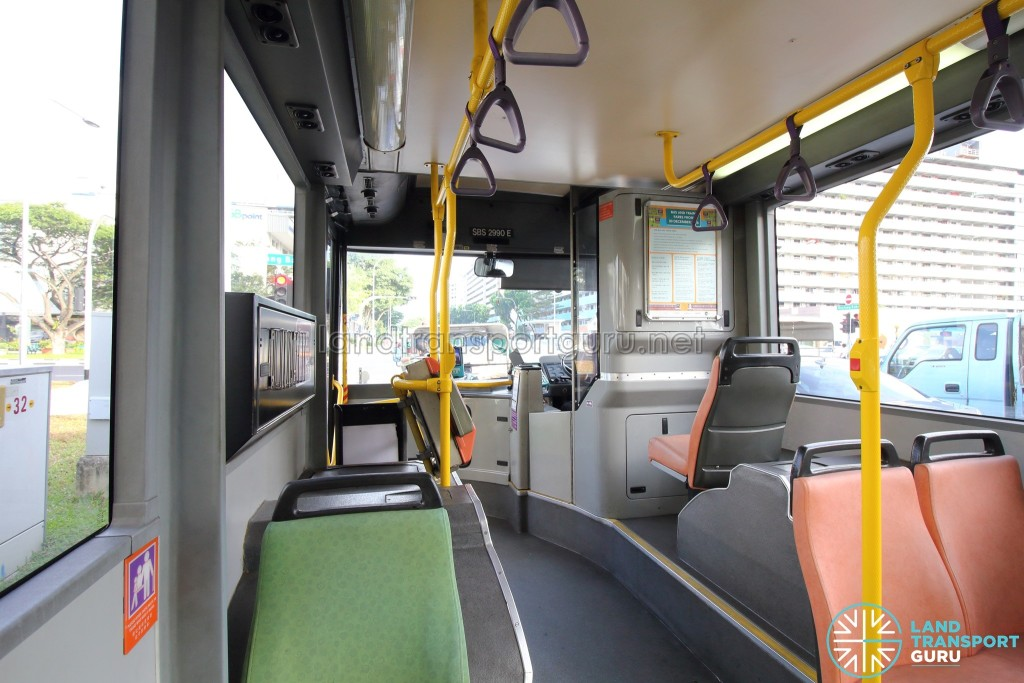 Volvo B10BLE CNG - Interior (Aisle and Front portion)