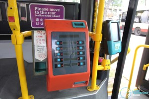 Volvo B10BLE CNG - Ticket Validator (used as Ticket printer)