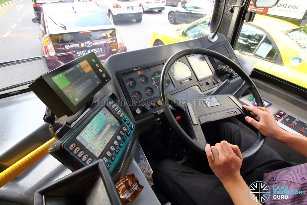 Volvo B10BLE CNG - Dashboard