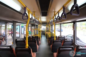 Volvo B10BLE CNG - Interior (Rear to Front)