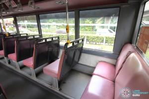 Volvo B10M MkIV - Last row of seats