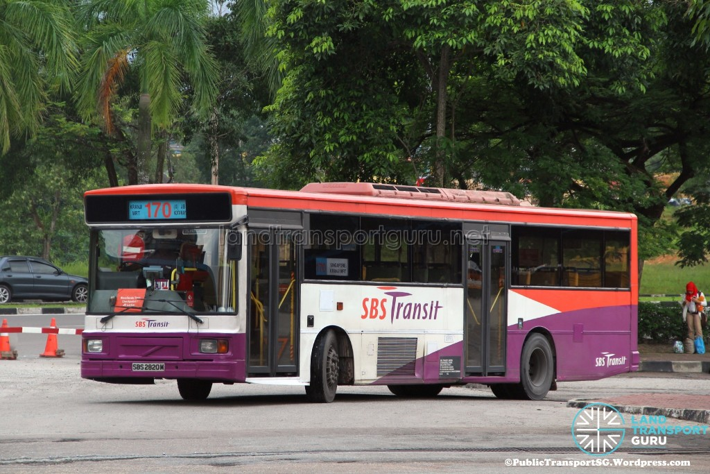SBST Volvo B10M Mark IV DM3500 (SBS2820M) - Service 170X