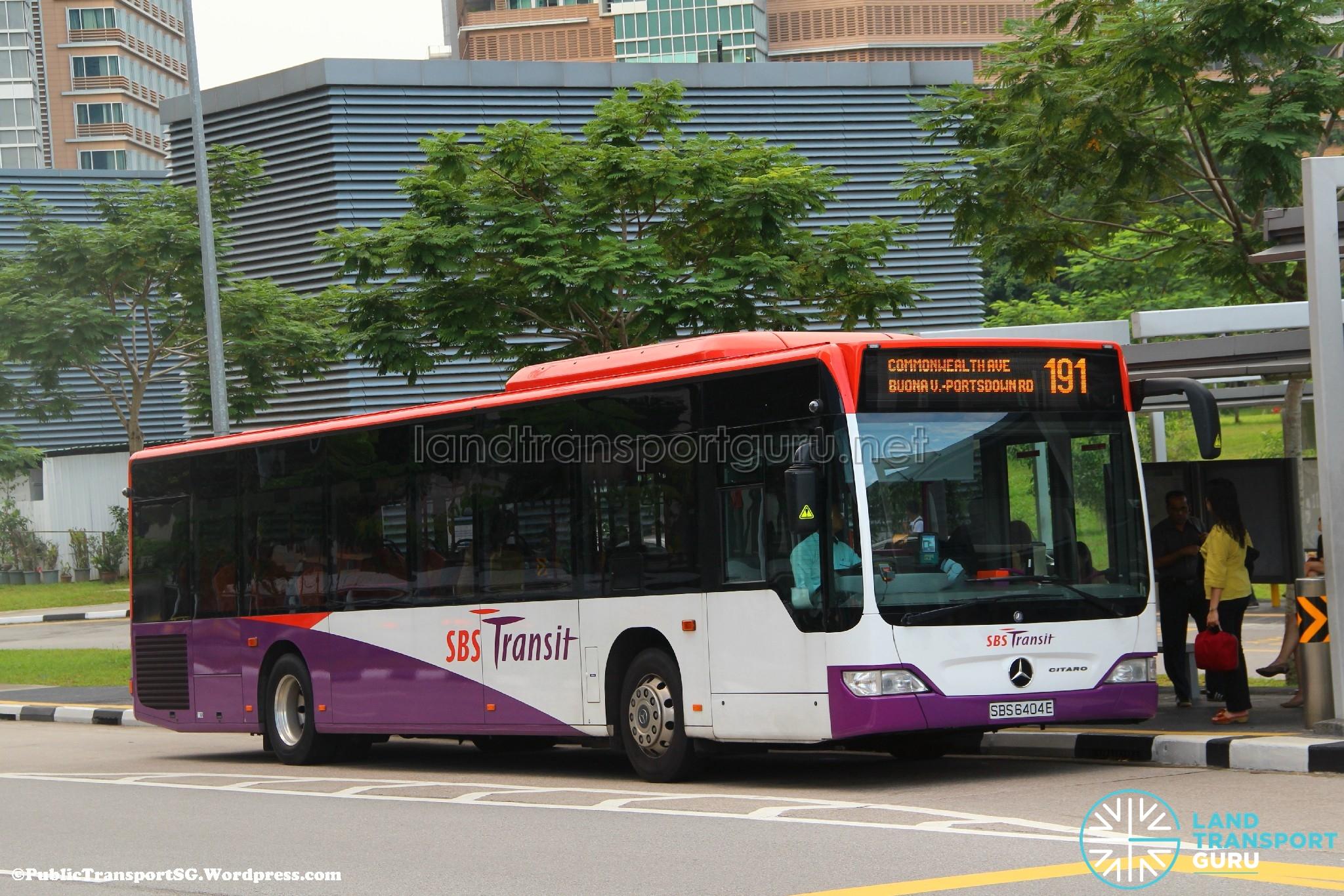 SBST Mercedes-Benz O530 Citaro (SBS6404E) - Service 191