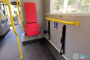 Alexander Dennis Enviro500 (Batch 2) - Wheelchair Bay with foldable seat and restraint system