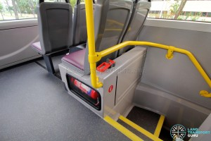 Alexander Dennis Enviro500 (Batch 2) - Fire extinguisher with emergency hammer