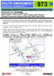 Bukit Panjang ITH Opening - Bus Stop 44251 Poster