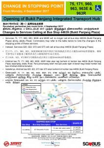 Bukit Panjang ITH Opening - Bus Stop 44639 Poster