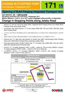 Bukit Panjang ITH Opening - Service 171 Poster