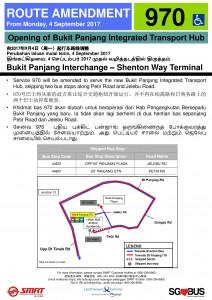 Bukit Panjang ITH Opening - Service 970 Poster