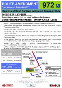 Bukit Panjang ITH Opening - Service 972 Poster