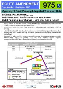 Bukit Panjang ITH Opening - Service 975 Poster