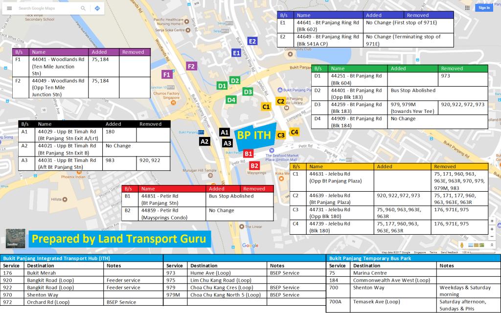 Bukit Panjang ITH Service Amendments
