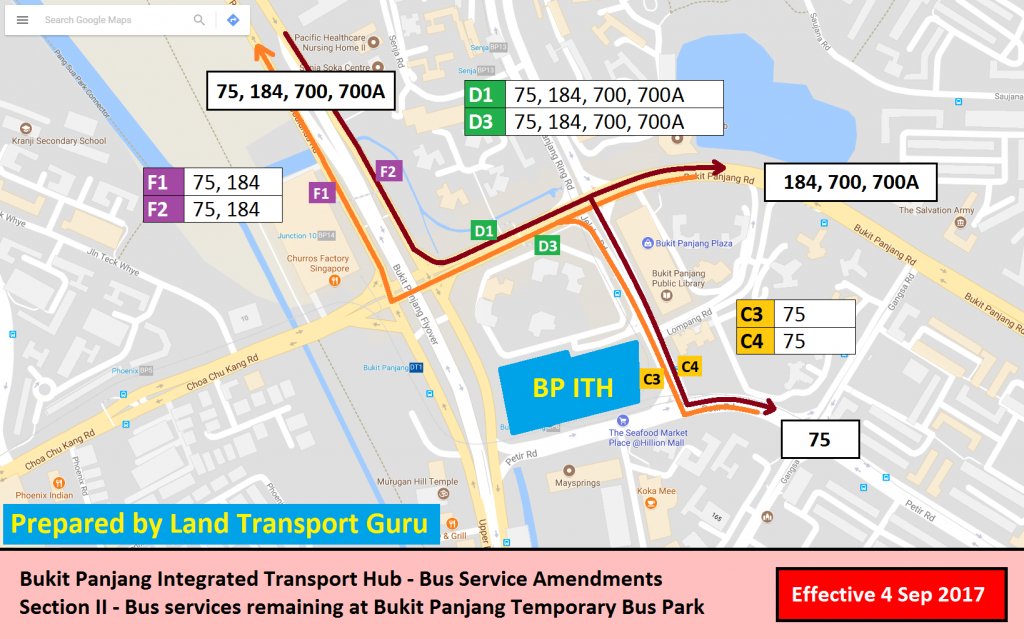 Bukit Panjang ITH Service Amendments - Section II