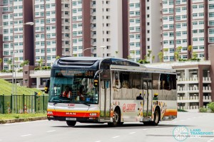 Service 944 winding through new housing estates in Bukit Batok