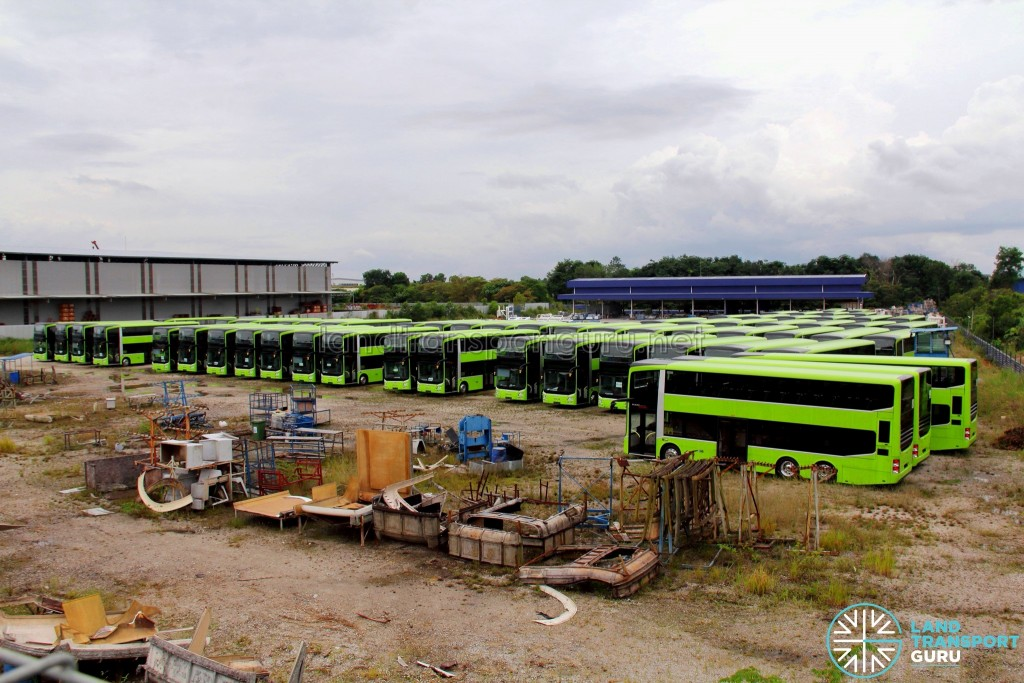 Gemilang Coachworks - Assembled MAN A95 Facelift buses in storage, awaiting delivery to Singapore (Aug 2017)