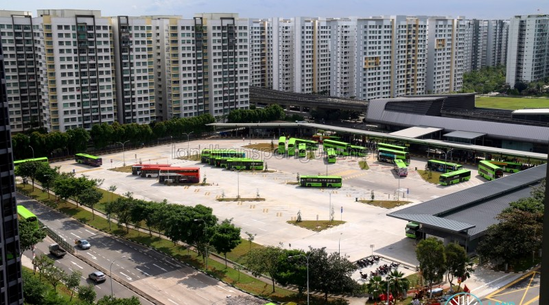 Punggol Bus Interchange Expansion (Overhead) - Aug 2017