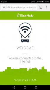 Service 291 Free Wi-Fi: Connected