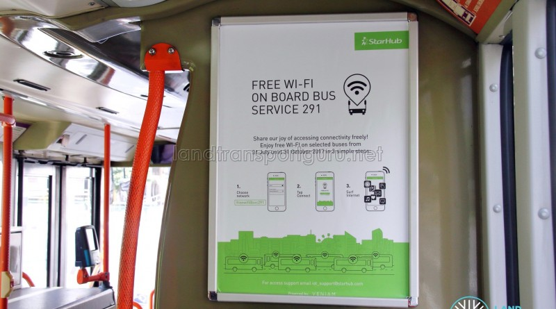 Free Bus WiFi Poster - Service 291